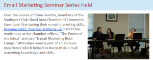 email marketing boot camp in southport nc