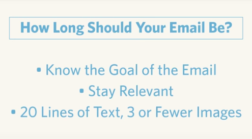 video: how long should your email be? (1:53)