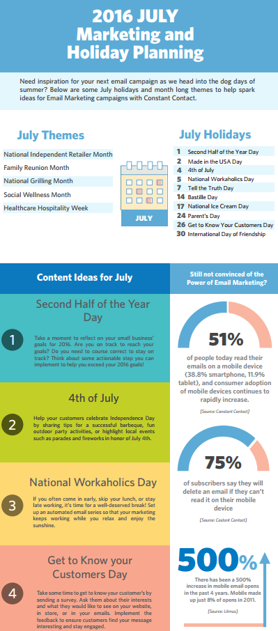 Your July marketing & holiday planner is here!