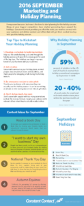 september holiday and marketing planner an infographic
