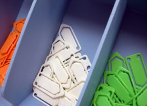 organized office paper clips