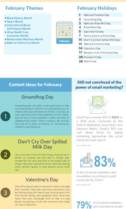 Your February Holiday and Marketing Planner is here!