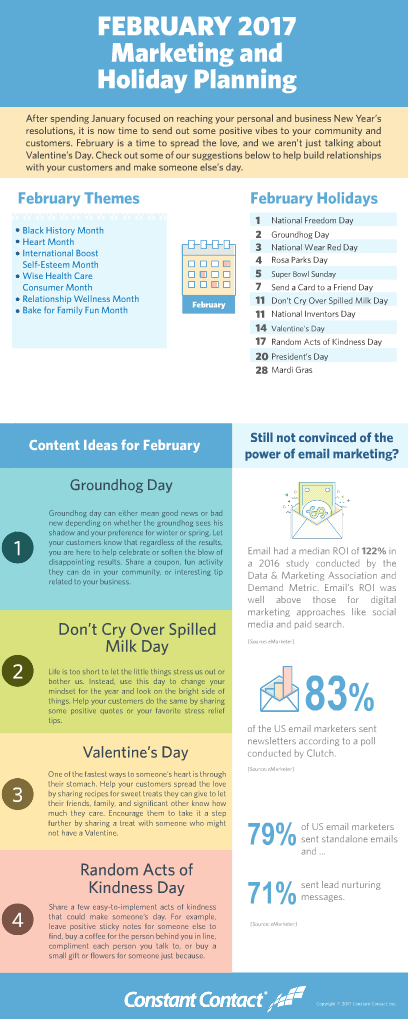 february marketing themes