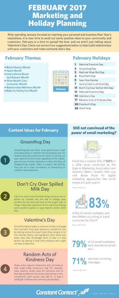 February marketing themes