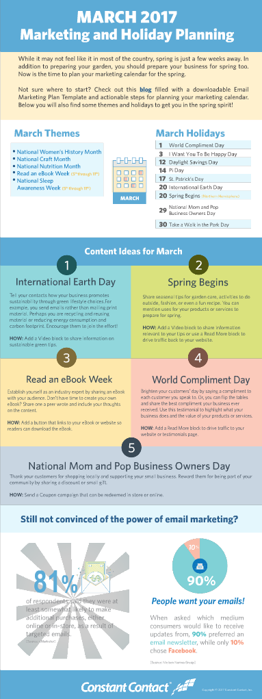 March marketing calendar