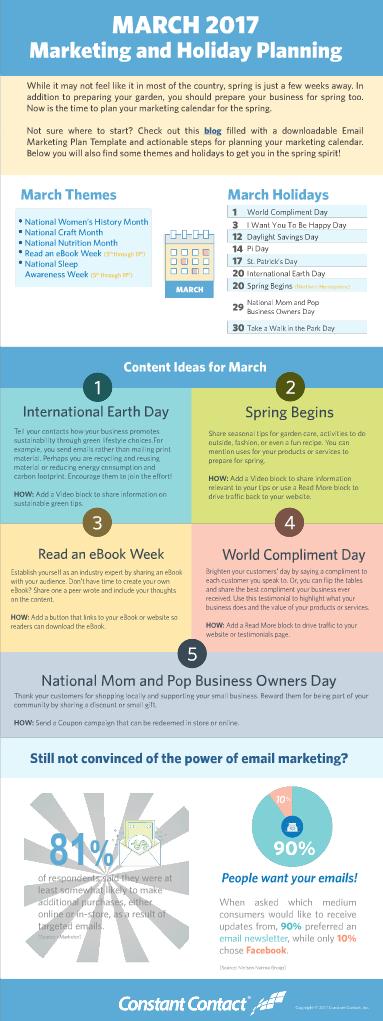 March marketing calendar