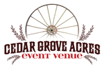 Cedar Grove Acres event venue logo