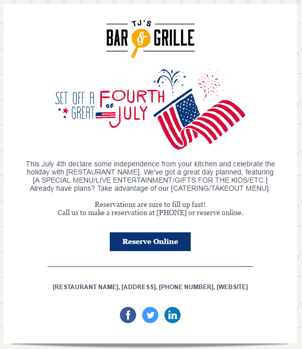 Fourth-of-July-email-template • digital marketing for your organization