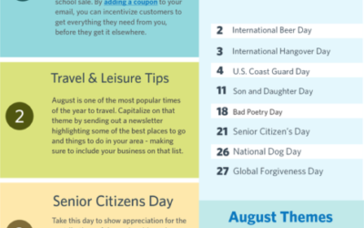 [Infographic] August 2019 Marketing & Holiday Planning
