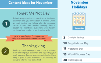 [Infographic] November 2019 Marketing & Holiday Planning