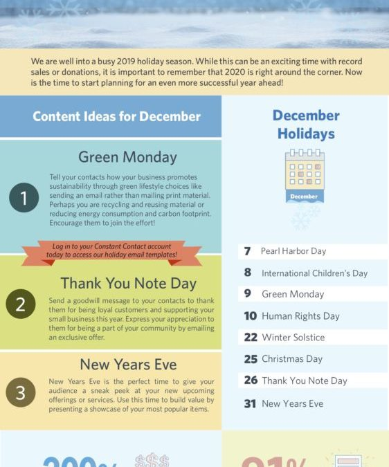 [Infographic] December 2019 Content Planner