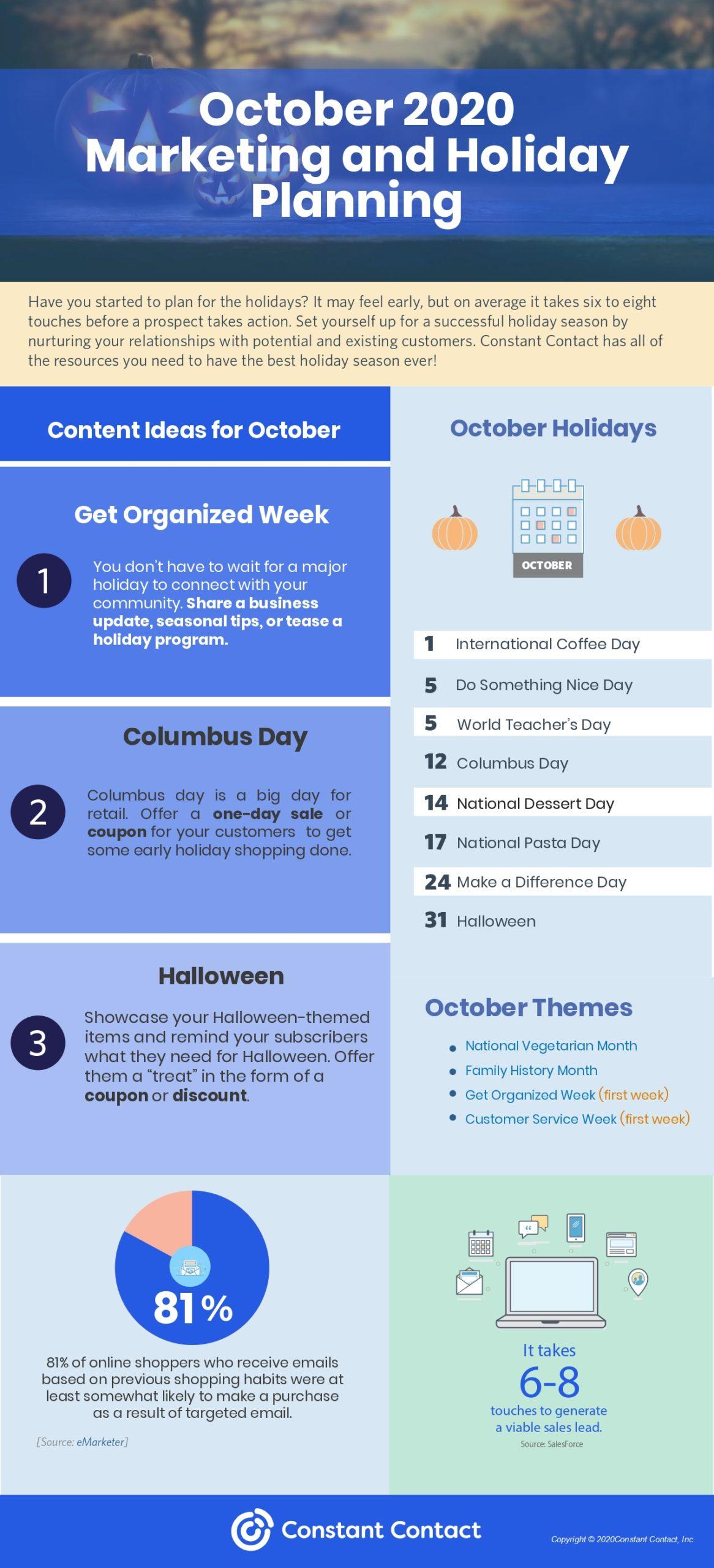 October content planner