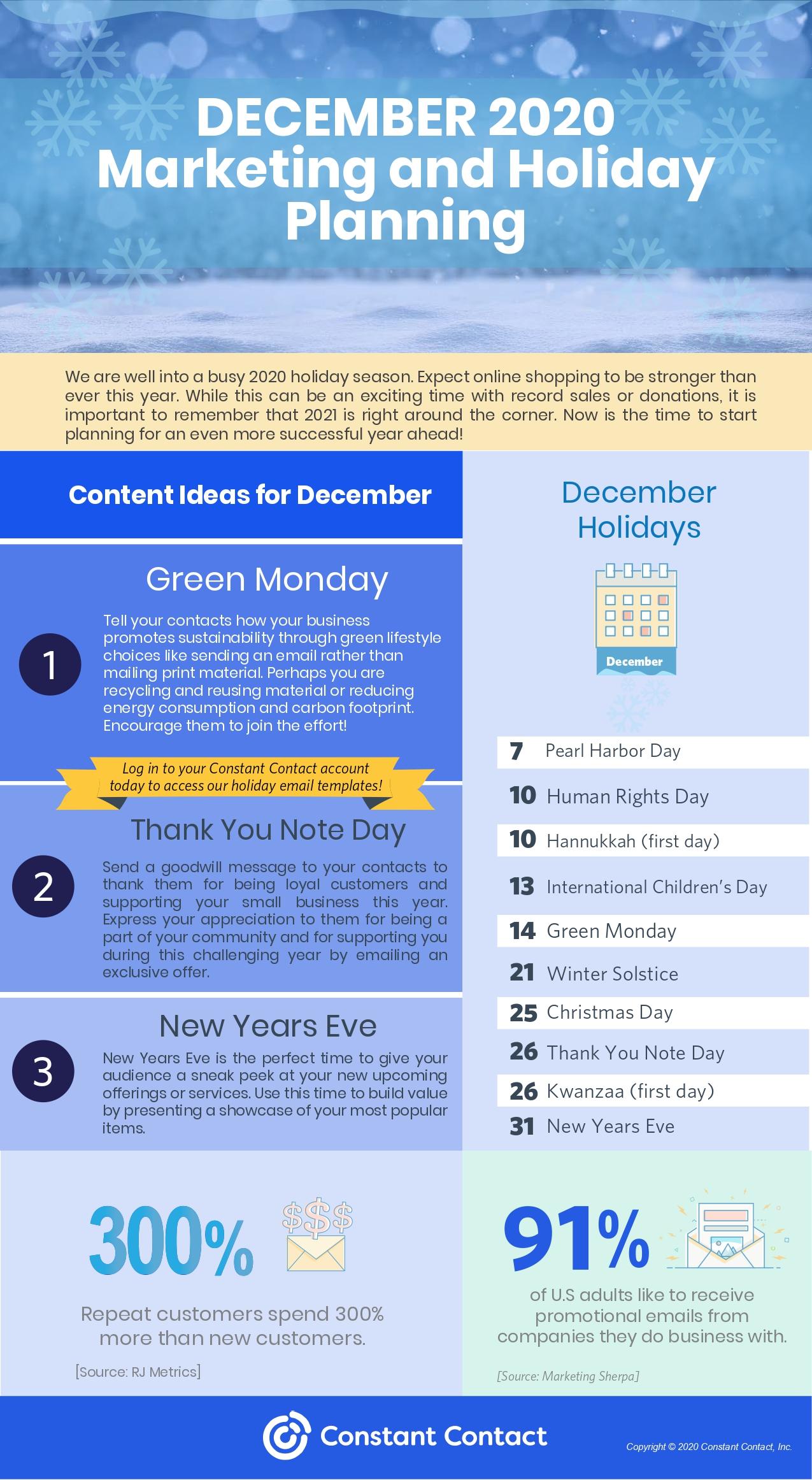 december content planner
